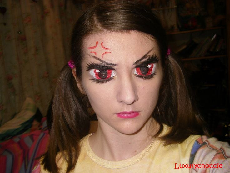Angry anime eyes make up by Luxurychoccie on deviantART More