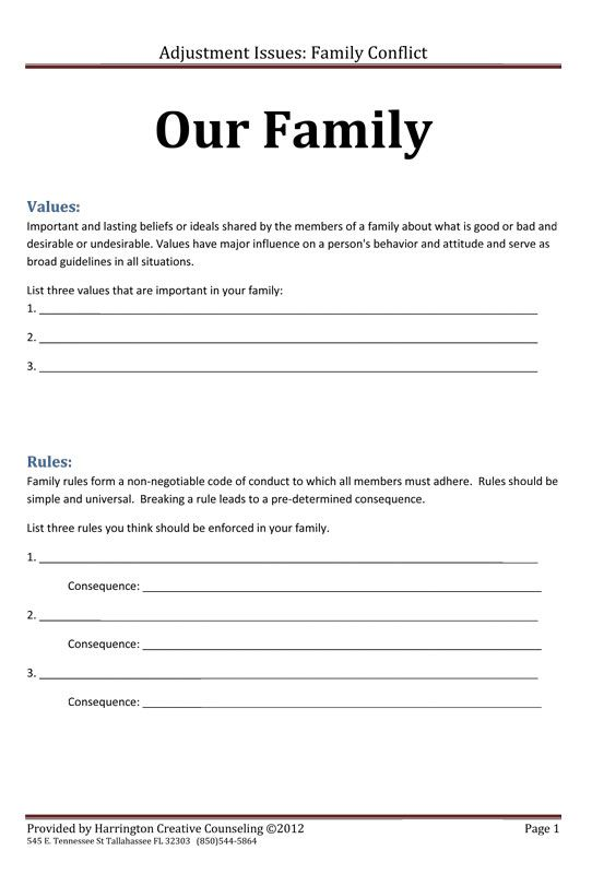 Family Rules and Values                                                       …