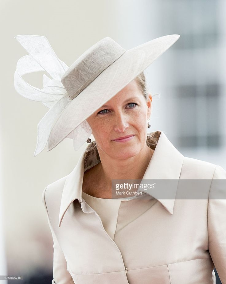 Sophie, Countess of Wessex arrives to take the salute at The Sovereigns Parade at The Royal Military Academy on August 9, 2013 in Sandhurst, England.