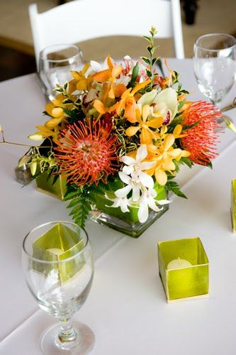 Best tropical centerpieces ideas on pinterest luau