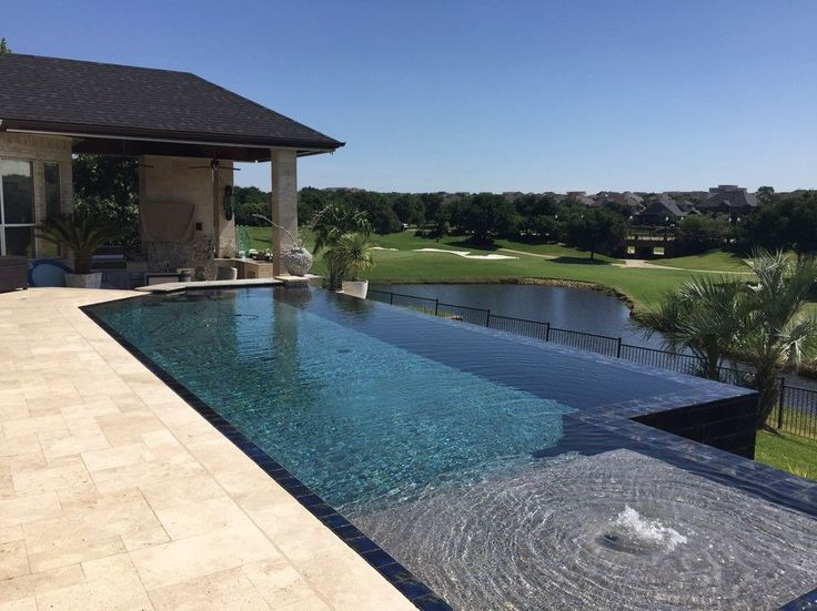Fireplace tiles types and designs travertine pavers - Invisible edge pool ...