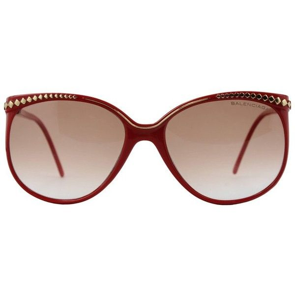 Preowned 1970´s Balenciaga Sunglasses 2014 (655 BRL) ❤ liked on Polyvore featuring accessories, eyewear, sunglasses, brown, colorful glasses, gradient lens sunglasses, colorful sunglasses, gradient sunglasses and balenciaga sunglasses