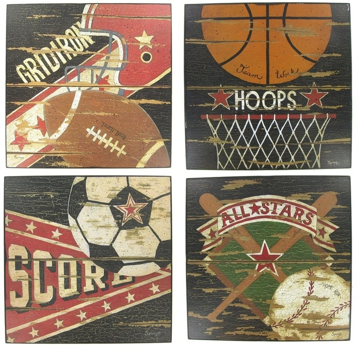 Vintage Sports Wood Wall Plaques | Hobby Lobby | Kids | Pinterest | Wood  Walls, Lobbies And Woods