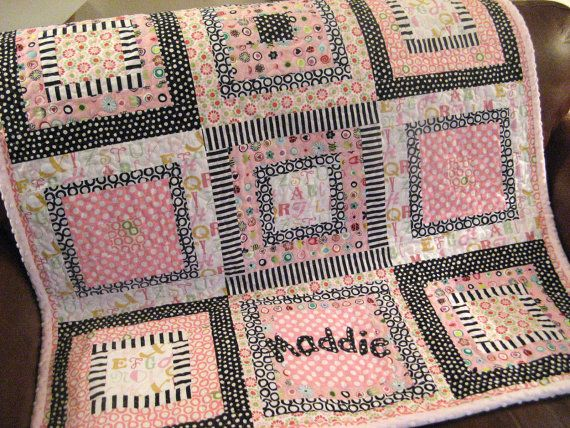 Custom Handmade Baby Quilt by aQuiltforBaby on Etsy, $175.00