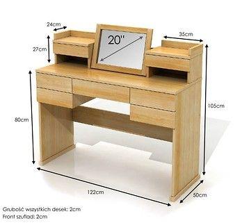 Lagerkvist toaletka z drewna sosnowego 7 szuflad