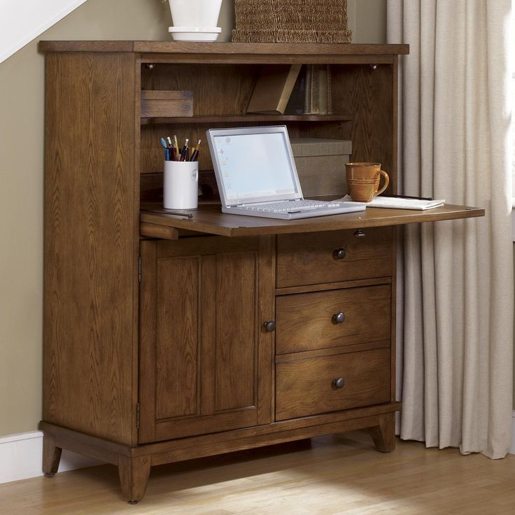 Hearthstone Drop Front Computer Storage Cabinet By Liberty Furniture   Wolf  Furniture   Secretary Desk Pennsylvania, Maryland