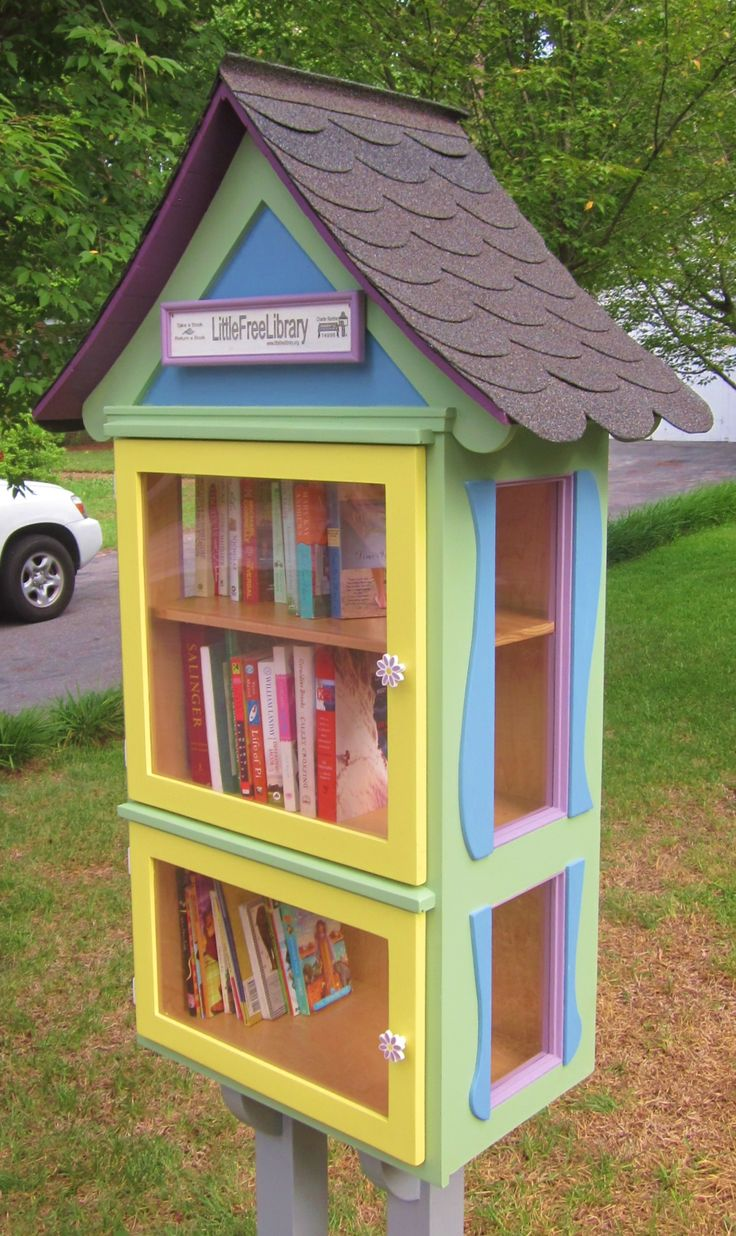 My wife and I created this Little Free Library for our neighborhood.
