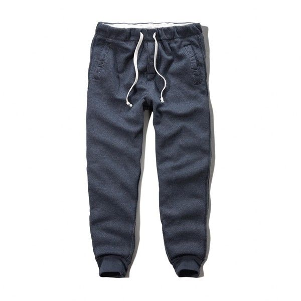 Abercrombie & Fitch Jogger Sweatpants ($25) ❤ liked on Polyvore featuring men's fashion, men's clothing, men's activewear, men's activewear pants, men pants, blue, mens activewear, mens activewear pants, mens jogger sweatpants and mens cuffed sweatpants