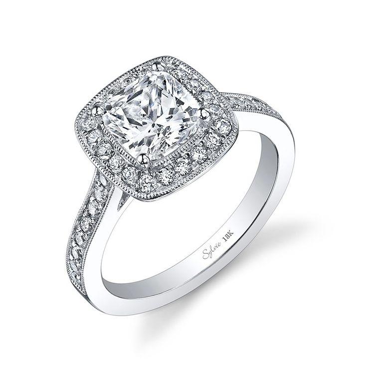 Classic Cushion Cut Halo Diamond Engagement Ring