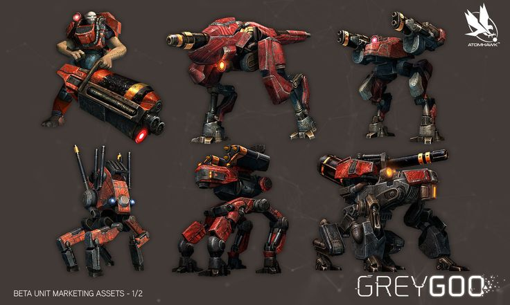Grey Goo, Atomhawk Design on ArtStation at https://www.artstation.com/artwork/grey-goo
