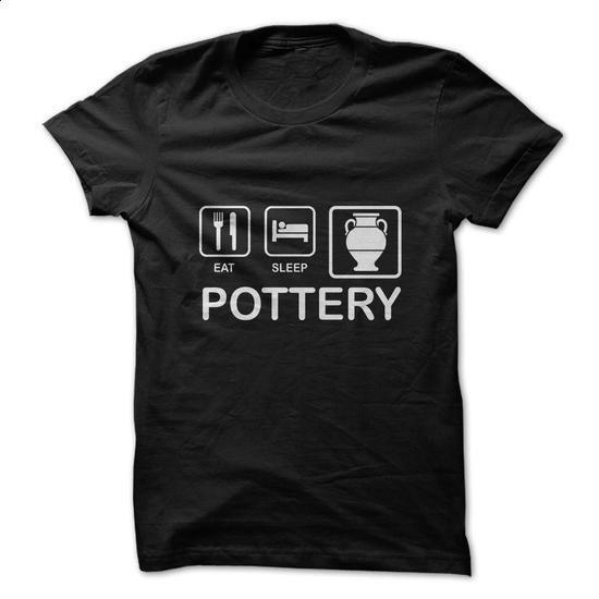 Eat. Sleep. Pottery. - #men shirts #pink sweatshirt. SIMILAR ITEMS =>…