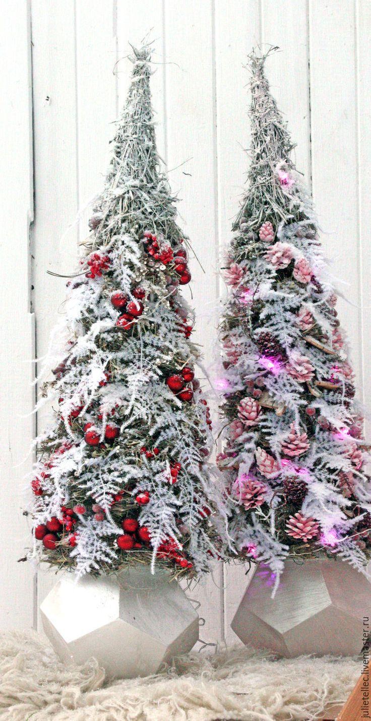 Купить Елочка Диамант - бордовый, белый, марсала, модная елка, елка 2016, новогодняя ель
