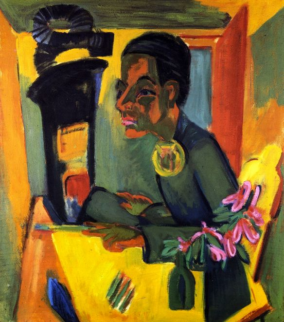 Der Maler, Selbstportrat , by Ernst Ludwig Kirchner