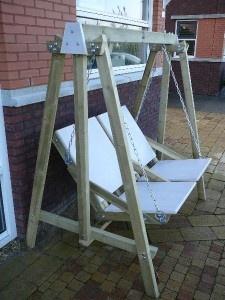 steigerhout  schommelstoel