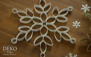 DIY: Große Weihnachtssterne aus Küchenrollen
