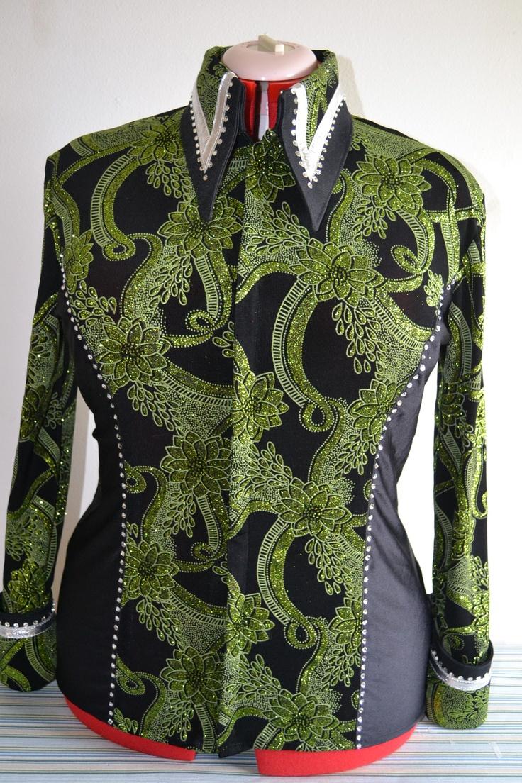Custom Made western horsemanship or western pleasure shirt/jacket made by KLS Designs Show Clothing - www.facebook.com/KLSDesignsShowClothing  Love the collar