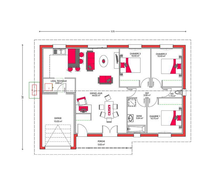 Les 31 meilleures images du tableau Plans petites maison sympas sur - plans de maison gratuit plain pied