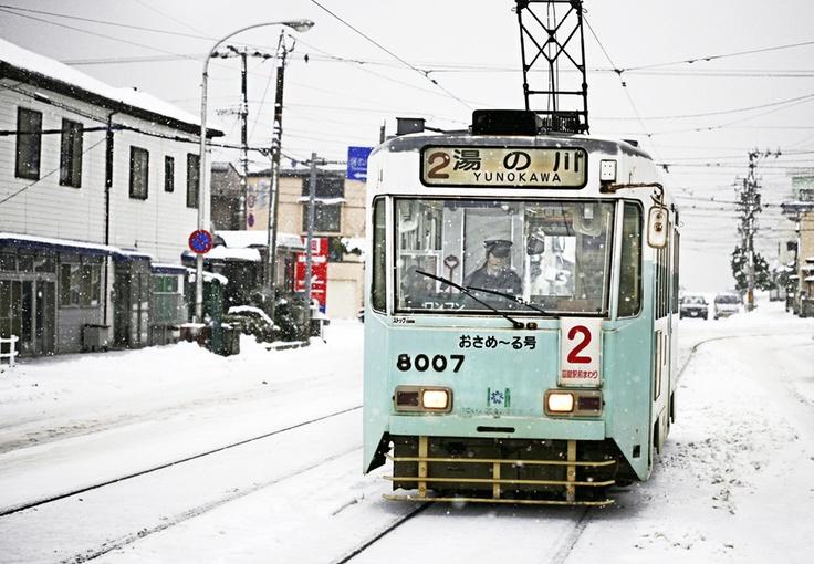 Winter Tram by Woosra Kim, via 500px