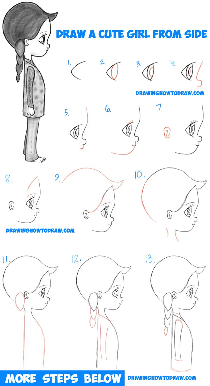 new styles 010ce e7eff ... air jordans step 3 How to Draw a Cute Chibi   Manga   Anime Girl from  the Side View Easy ...
