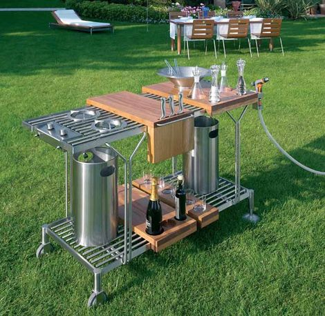 Suzette Outdoor Entertaining Cart by Metalco