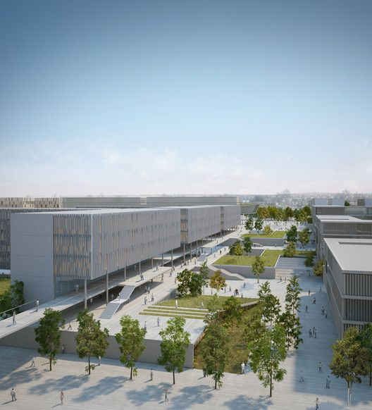 BGU University North Campus Master Plan,Courtesy of Chyutin Architects