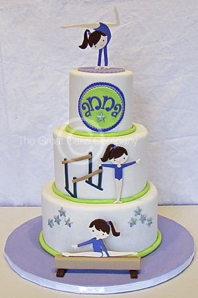 gymnastics cake - Google Search