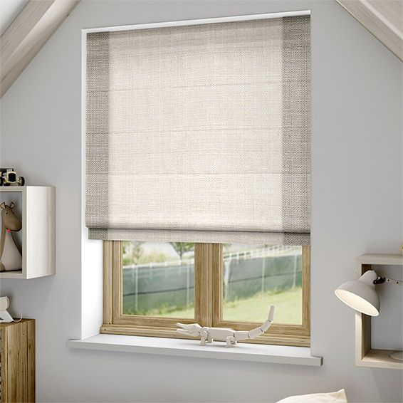 puritan dove white roman blind
