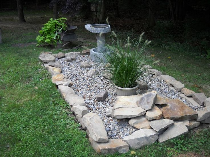 disguise for septic system...bird bath could go here too