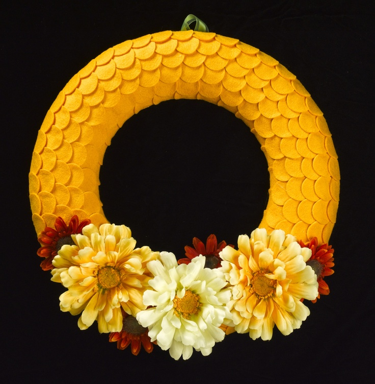 Yummy, yummy yellow! #FeltWreath #FallWreath