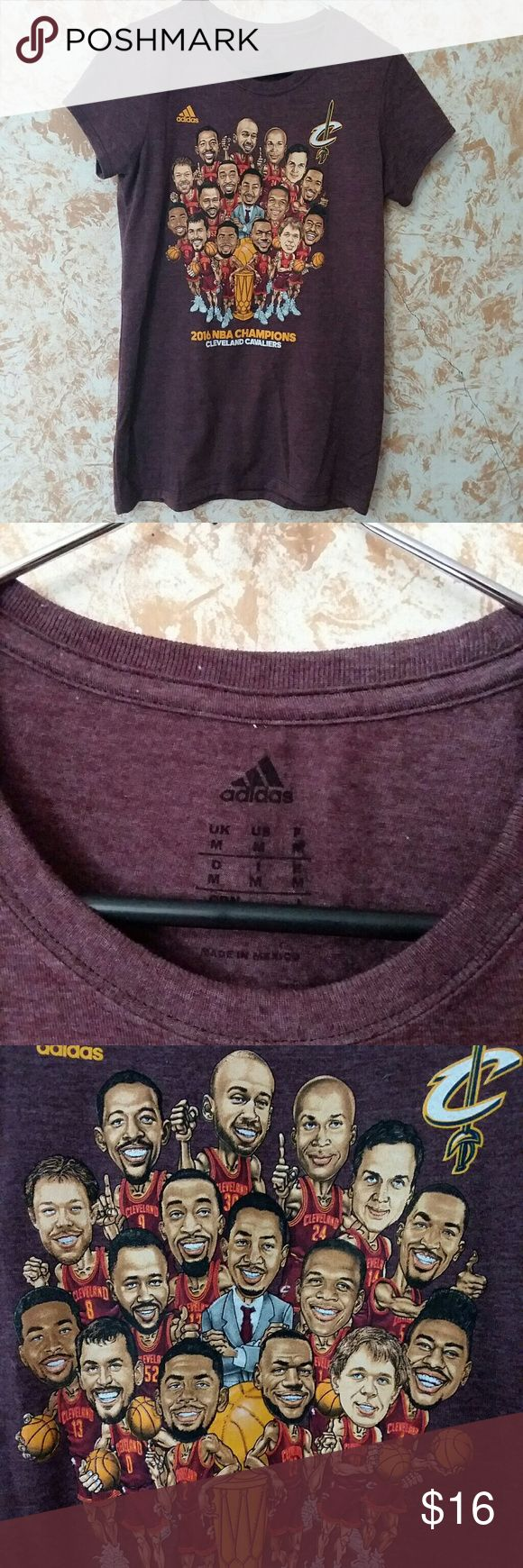 • ADIDAS  Cleveland Cavaliers  • EUC. 2016 Cleveland Cavaliers Championship t-shirt. adidas Tops Tees - Short Sleeve