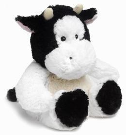 2 minutes au micro-ondes, et votre peluche se transforme en une bouillotte toute douce et toute chaude // 2 min in the microwave and this cute cow is a wonderfully warm cuddly friend - Ahhhhh!