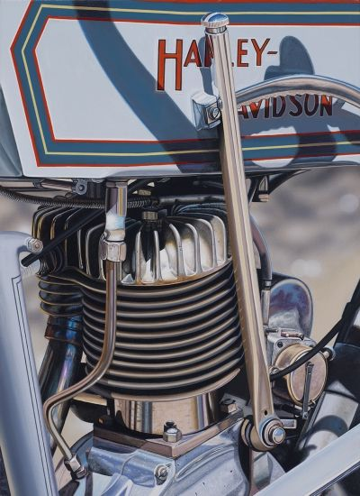 """""""1914 Harley-Davidson"""" by Scott Jacobs Acrylic on Canvas"""