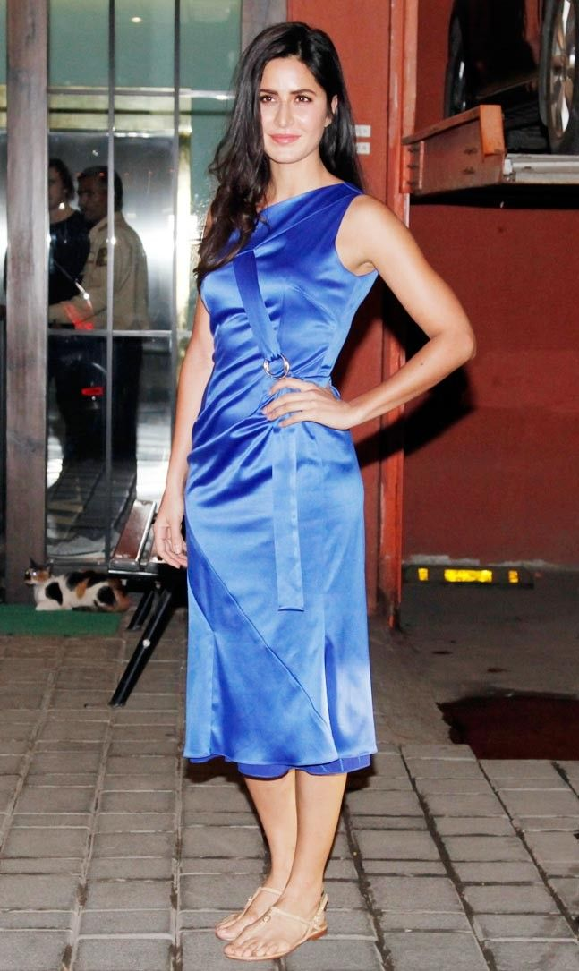 You need sunglasses to look at Katrina Kaif in this electric-blue dress : Fashion, News - India Today