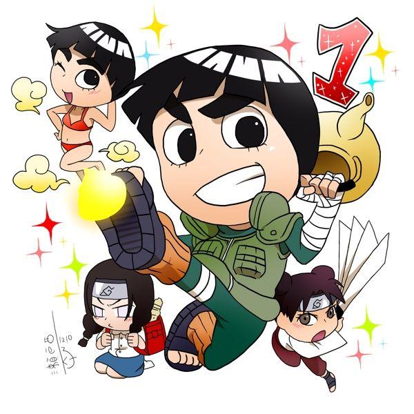 Tags: Anime, NARUTO, Rock Lee, Hyuuga Neji, Tenten, Hair Buns, Twin Buns