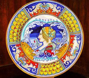 7 best piatti di maiolica ceramica Deruta images on Pinterest ...