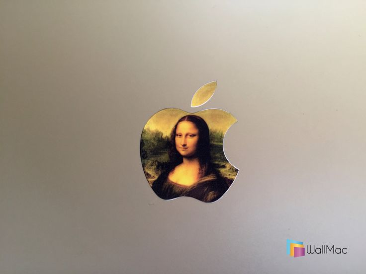 Mona Lisa Glowing Backlit Apple Logo for MacBooks 2 Decals per Order by WallMac on Etsy