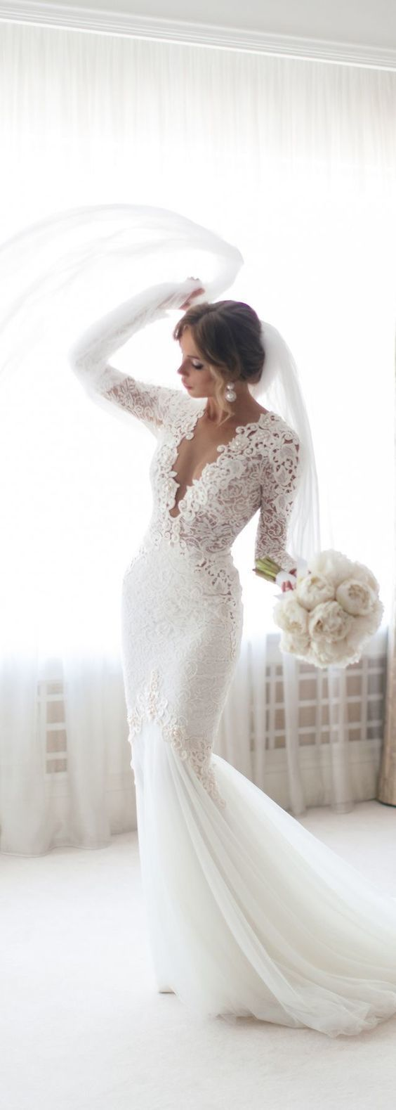 Hot custom made dresses Mermaid Wedding Dress lace wedding gowns sexy wedding dr…