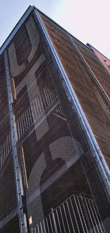 Royal Greenwich UTC - Alpine Architectural Metal Mesh - External staircase cladding