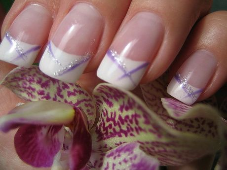25 best ideas about purple french manicure on pinterest nail tip designs glitter french tips. Black Bedroom Furniture Sets. Home Design Ideas