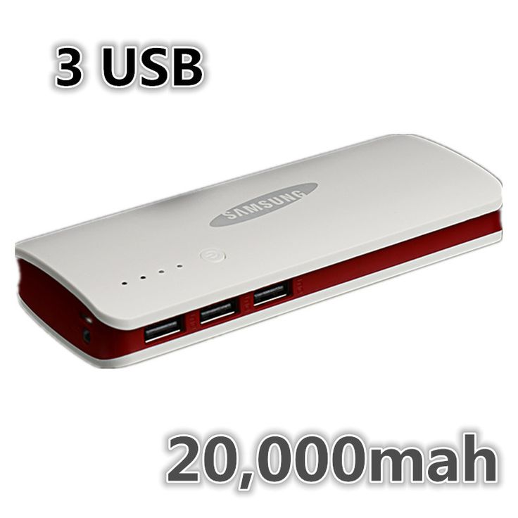2015 Hot sale 3 USB Power bank For SAMSUNG External Battery powerbank 20000mah For iPhone XiaoMi
