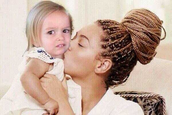 Tumblr has officially decided that #sideeyeingchloe 's face is the face of a beautiful goddess and belongs on all things Like Blue Ivy.