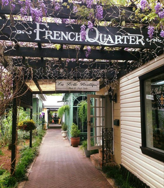 Next, browse the unique shops at the French Quarter. Also, stick around to see the South's largest crape myrtle (Alabama Champion Tree).