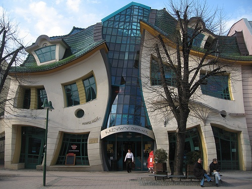 architecture crazy buildings amazing building structure crooked poland funky weird architectural sopot really exists houses square architect future meters boxden