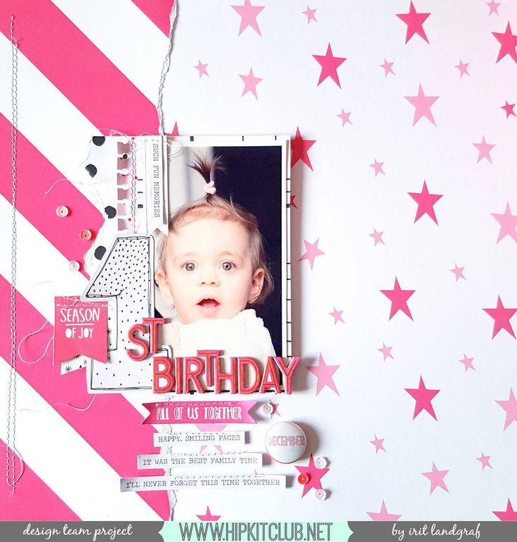 Create a birthday layout using the #november2016 #hipkits just as designer @aurora_landgraf has so beautifully done. We love all the pink she has used!  @hipkitclub #hkcexclusives #exclusives #hipkitexclusives @cratepaper #snowandcocoa #hipkitclub #papercrafting #kitclub #scrapbookingkitclub #birthdaylayout #pink #1stbirthday
