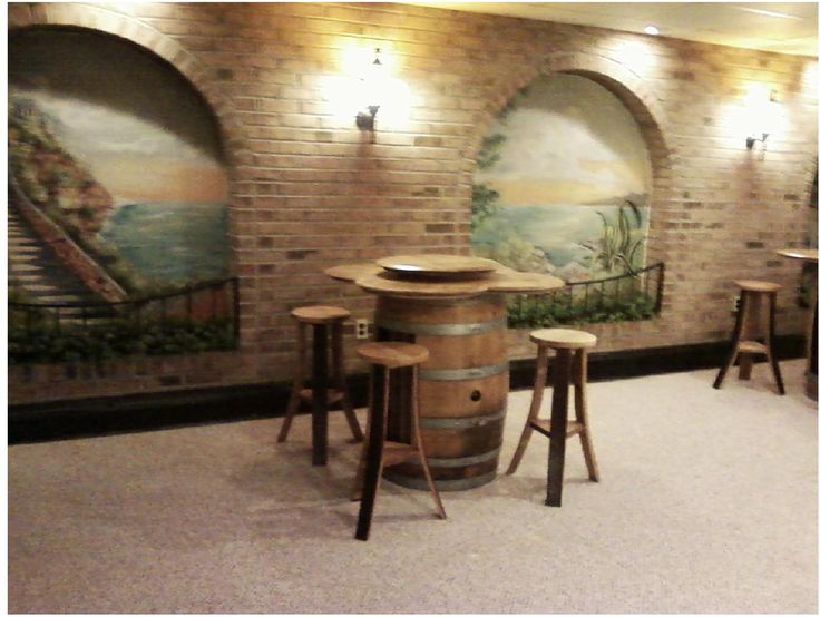 1000 images about Wine Barrel Furniture Made in the USA