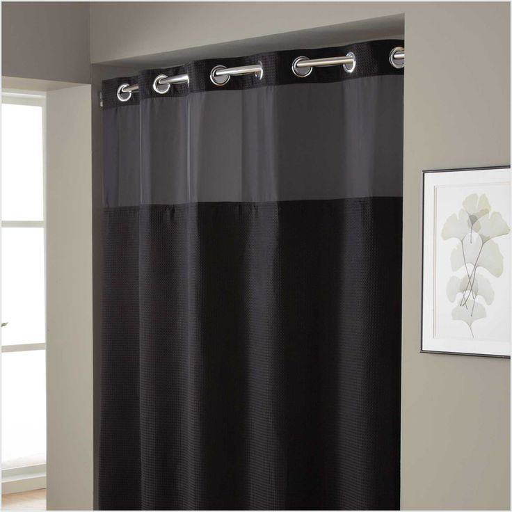 Hookless Shower Curtain Extra Long