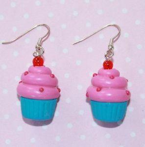 Cupcake Earrings http://stores.ebay.co.uk/Lavish-Accessories #Kitsch #Kawaii #Sweets #Cake #Cute #Lolita #Pastelgoth #Lavishaccessories