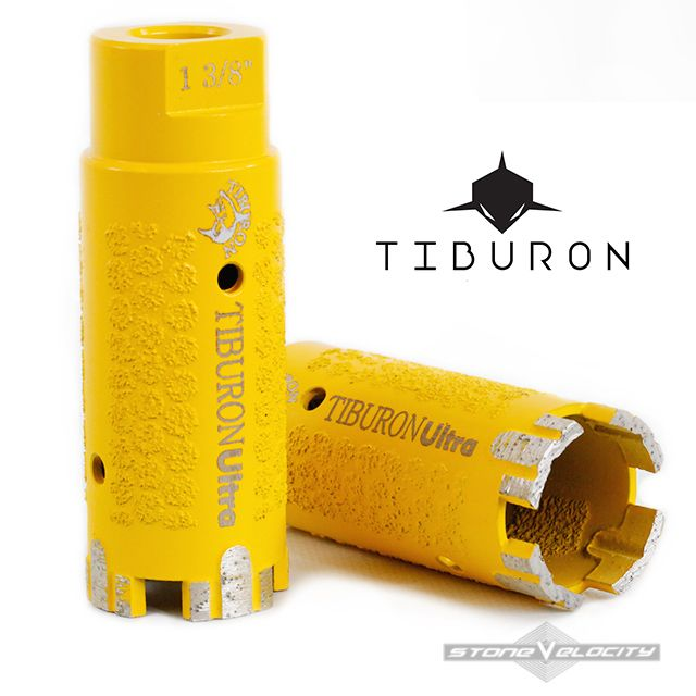 Tiburon Yellow -Diamond Core Drill Bit 1 3/8 Inch Wet/Dry Granite Concrete Stone Tile Made KOREA « Stone Velocity