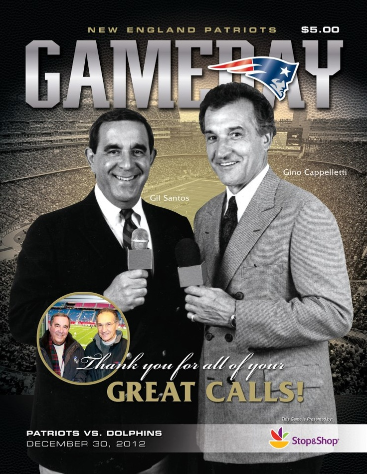Gino and Gil - New England Patriots radio announcers - an end of an era