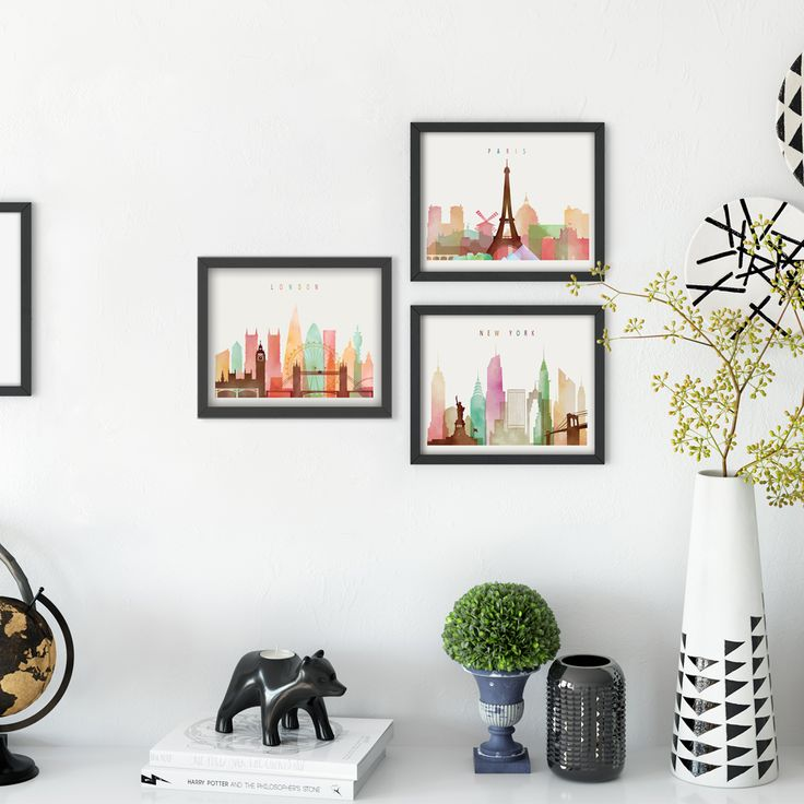Aliexpress.com : Buy Watercolor Modern London New York Cityscape Art Print Poster Abstract Image Marijuana Canvas Fresco Living Room Office Decoratio from Reliable art print poster suppliers on Home Art Deco suppliers